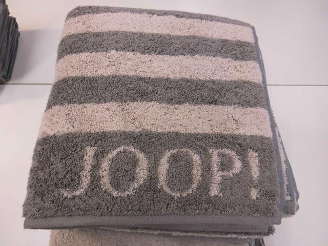 Joop  Duschtuch 80x150cm Classic Stripes 1610 Fb.70 graphit | Preisreduktion
