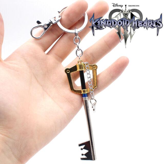 Game Kingdom Hearts Sora Key Symbol PVC Pendant Keychain Keyring Cosplay Gift