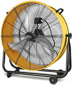 Simple Deluxe 24 Inch High Velocity Heavy Duty Metal Air Circulation Drum Fan