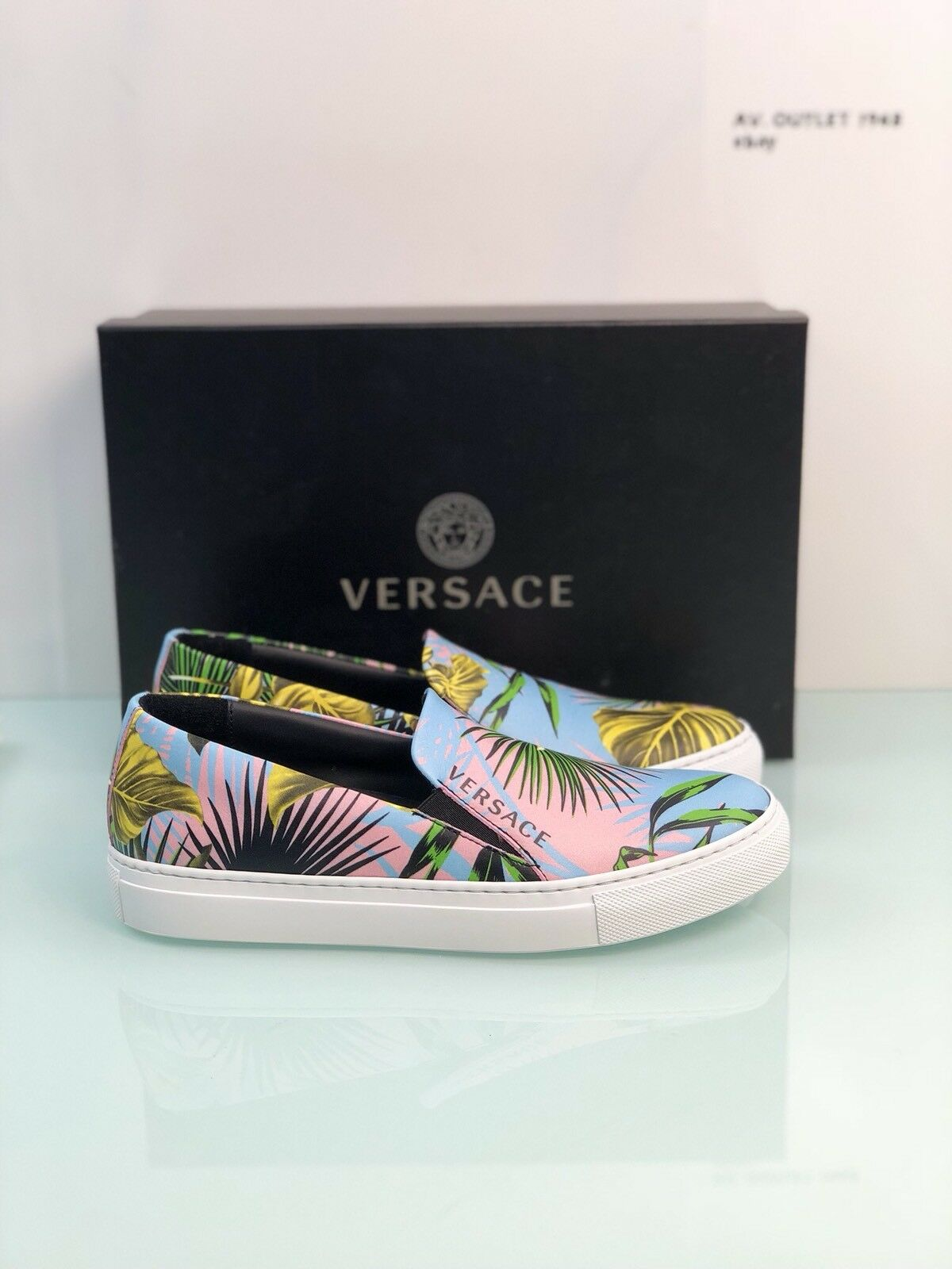 baskets Versace femmes Jungle MultiCouleur rose Made In  Luxury baskets