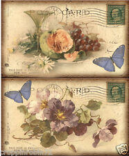 FLORAL BUTTERFLY BIRDS (14)  SCRAPBOOK CARD EMBELLISHMENTS HANG/GIFT TAGS