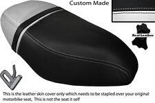 BLACK & WHITE CUSTOM FITS PIAGGIO ZIP 50 125 00-13 DUAL LEATHER SEAT COVER