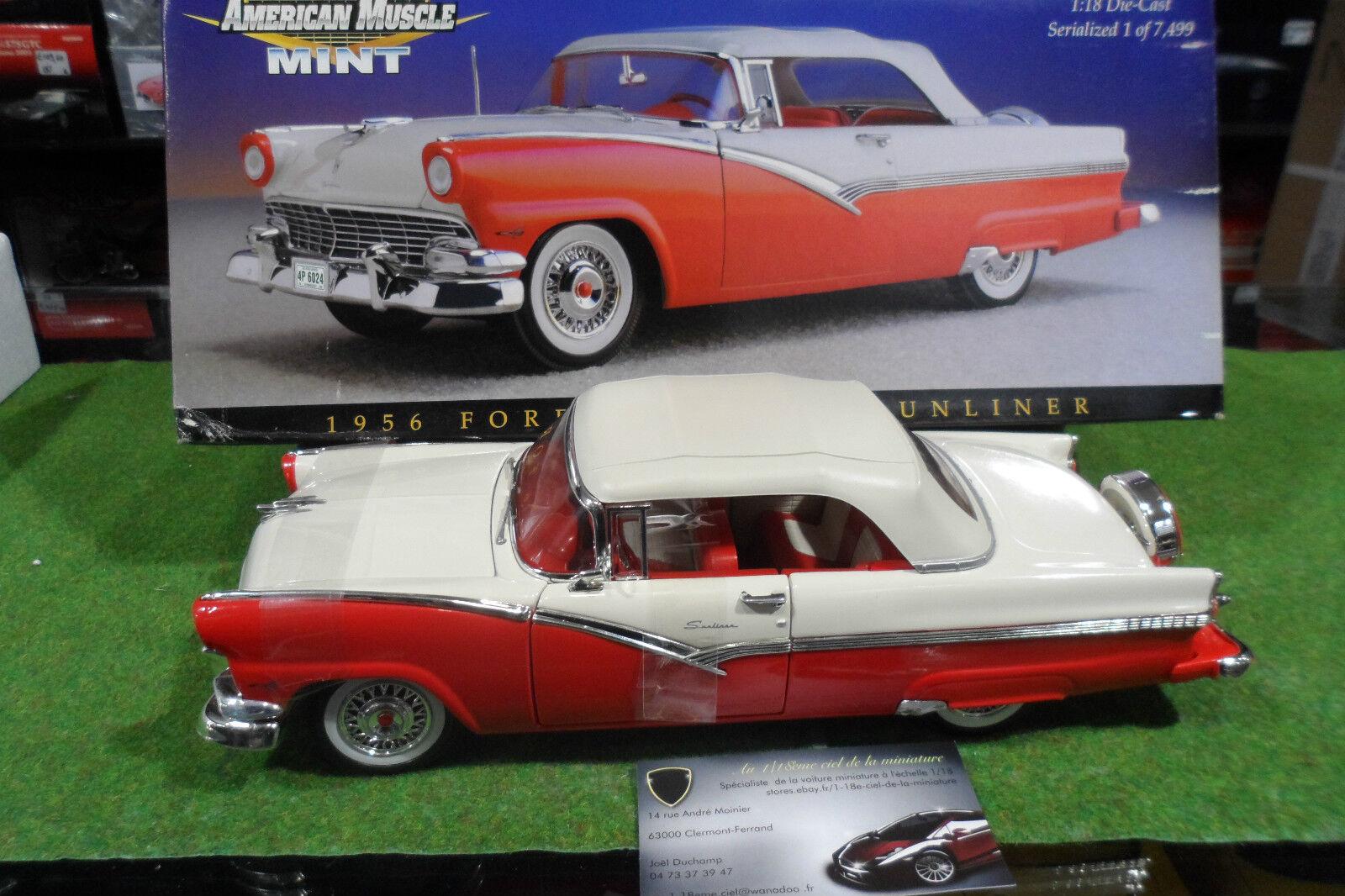 venta caliente FORD FAIRLANE SUNLINER 1956 cabriolet au 1 18 AMERICAN AMERICAN AMERICAN MUSCLE ERTL 32076 voiture  autentico en linea