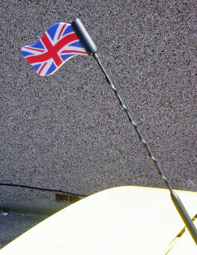 Union Jack Un fier drapeau de kaléidoscope Nations CAR AERIAL ANTENA Topper Inc p/&p