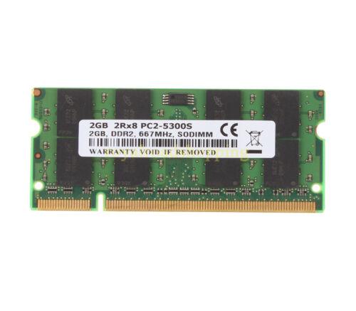 NEW RAM 2GB DDR2-667 2RX8 PC2-5300S 667MHz 200PIN CL5 SO-DIMM For Laptop Memory