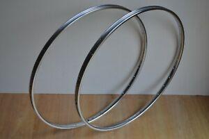 Vintage-Pair-of-Chrome-Steel-Rims-36-Hole-700c