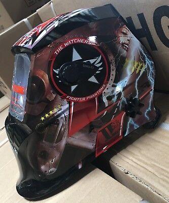 AEW500 Auto Darkening Welding Helmet Mask 4 sensors,DIN 9 to 13