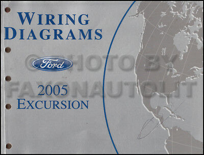2005 ford excursion wiring diagram manual electrical schematic book  original oem | ebay  ebay
