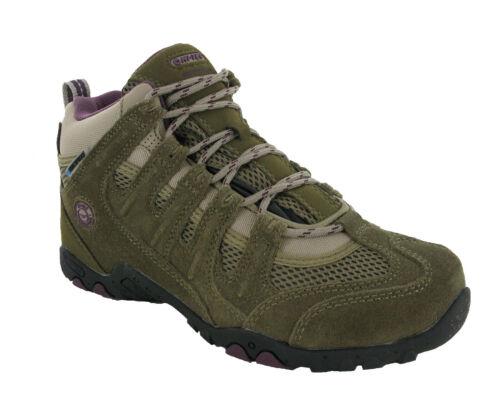 Hi-Tec Quadra Womens Boots Mid Dri-Tec Waterproof Walking Trail Hiking UK4-8