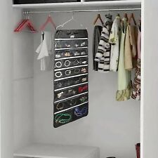 Hanging Jewelry Organizer 56 Zippered Pockets Storage Hanger Closet