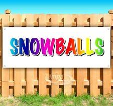 Snowballs Advertising Vinyl Banner Flag Sign Many Sizes Carnival Fair Food Usa