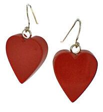 ZSISKA Medium Red Heart Resin Earrings