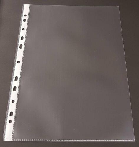 10-500x  A4 Prospekthülle 80my Klarsichthülle Abheftrand GLASKLAR recycelbar