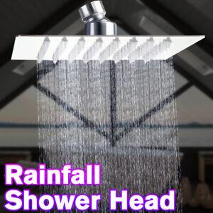 G1-2-Rain-Shower-Head-Brushed-Nickel-304-Stainless-Steel-Rainfall-Ultra-Thin-New