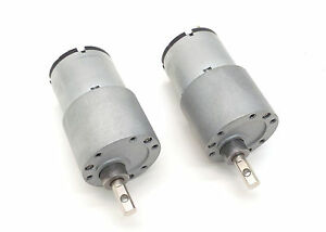 12v dc servo motor with 417 1 ratio gear box pair with