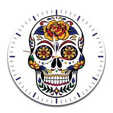Reloj De Pared cráneo Color Vinyl Record De Diseño Hogar Arte Oficina Tienda Hobby Dormitorio