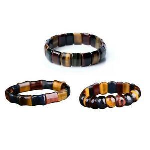 1-Stuecke-Natuerliche-Farbe-Tigerauge-Stein-Edelstein-Armband-Hand-Armband-B3J3