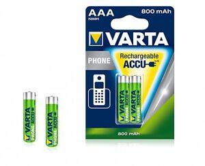 2-x-Varta-T398-Phone-Power-Akku-Micro-AAA-1-2-V-800-mAh-T-398-T-COM-SINUS