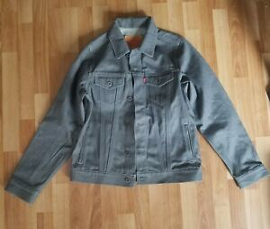 f5e2c47c Levis Denim Jacket Trucker Jean Coat Classic Levi's Gray Youth Size ...
