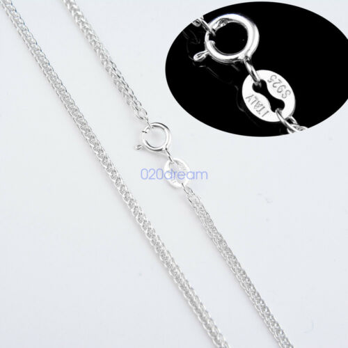1.5mm Real .925 Sterling Silver Curb Cuban Braid Chain Necklace Italy All Size