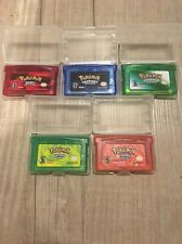Pokemon Game Lot: Fire Red, Leaf Green, Emerald, Ruby, Sapphire For GBA