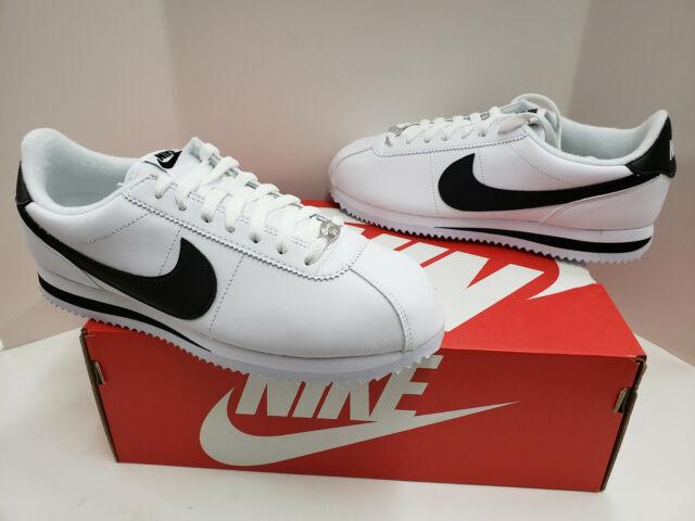 new product 3c827 c097d NIB Mens Nike Cortez Basic Leather White Black Metallic Silver 819719 100