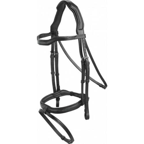 Prestige sport fantaisie Stitch Bridle taille S//N Noir Ou Marron Confort têtière