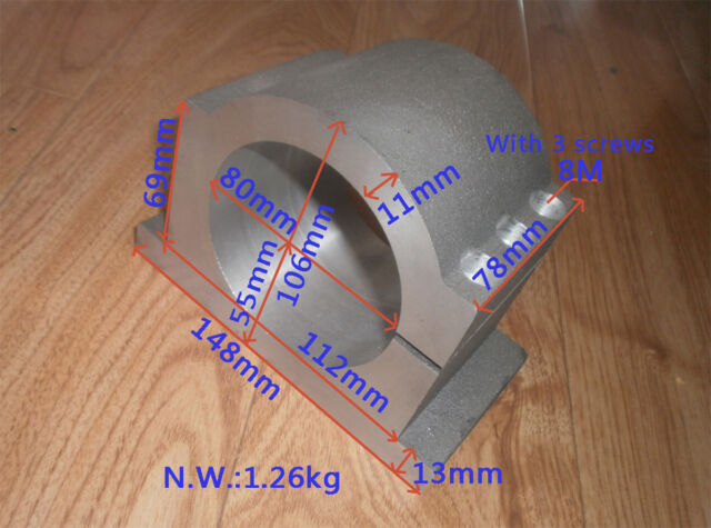 CNC Fräse  Spindelaufnahme Spindelhalter Halterung 80mm spindle mount bracket