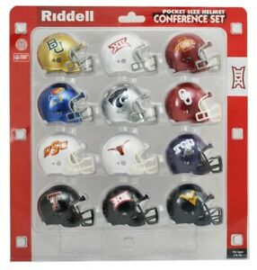 BIG-12-POCKET-PRO-HELMET-SET-RIDDELL-REVOLUTION-HELMETS-ORIGINAL-PACKAGE