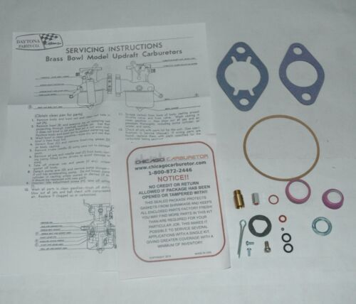 1929 31 CARB KIT BRASS CARTER UPDRAFT 1 BARREL DESOTO 6 CYL ETHANOL TOLERANT