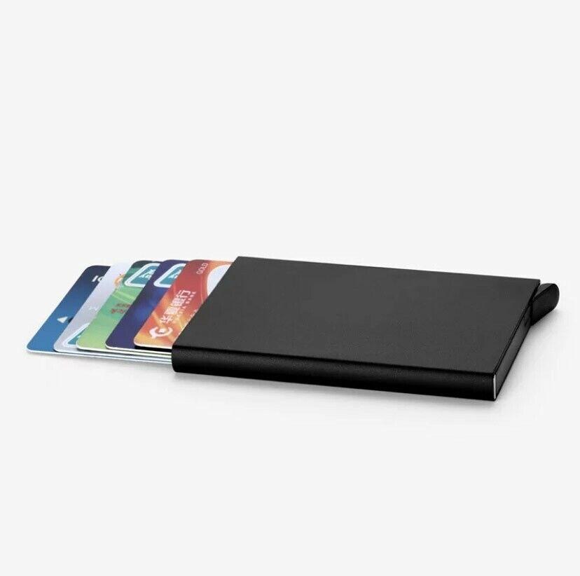 RFID Blocking Metal Contactless Credit Card Holder Wallet Slim Anti-scan