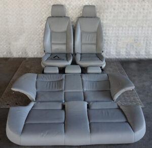 BMW-3-Serie-E90-Riscaldato-Grigio-Pelle-Sedili-Interni-con-Airbag-E-Porta-Carte