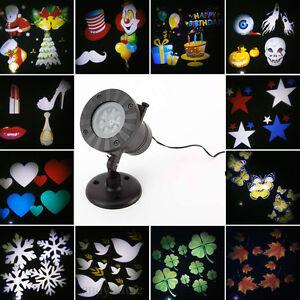 12 Pattern Moving LED Laser Light Projector Landscape Card Christmas Garden