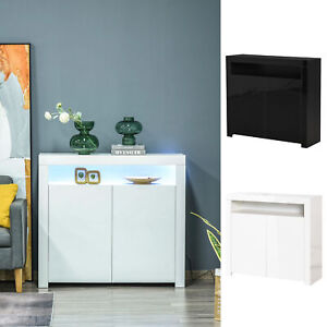 High Gloss LED Cabinet Cupboard Sideboard Console with RGB Lighting