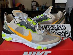 Details about Nike React Element 87 Light Orewood Brown Laser Orange AQ1090 101