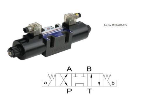 Hydraulikventil//válvula de 4//3 vías 12 voltios//baugrösse ng 6/_ng06021
