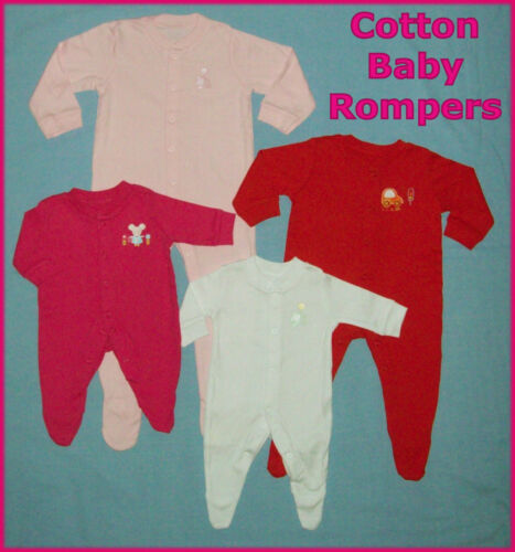 BABY ROMPER Sz Prem 0 3 6 9 12 18 24 mths GEORGE One-Piece COVERALL ROMPER NEW