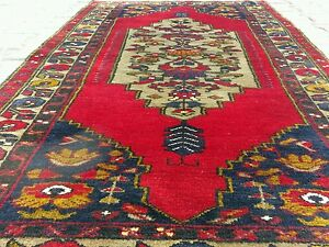 "Antiques Ca1900-1939s Antique 3'6""×6'2"" Multi-colored Wool Pile Turkish Nomad Area Rug Comfortable Feel"