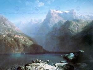PAINTING-LANDSCAPE-CALAME-LAKE-LUCERNE-SWISS-ALPS-ART-PRINT-POSTER-LAH056