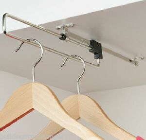 Pull-slide-Out-Retractable-Wardrobe-Clothes-Hanging-Rail-rack-Bedroom-storage