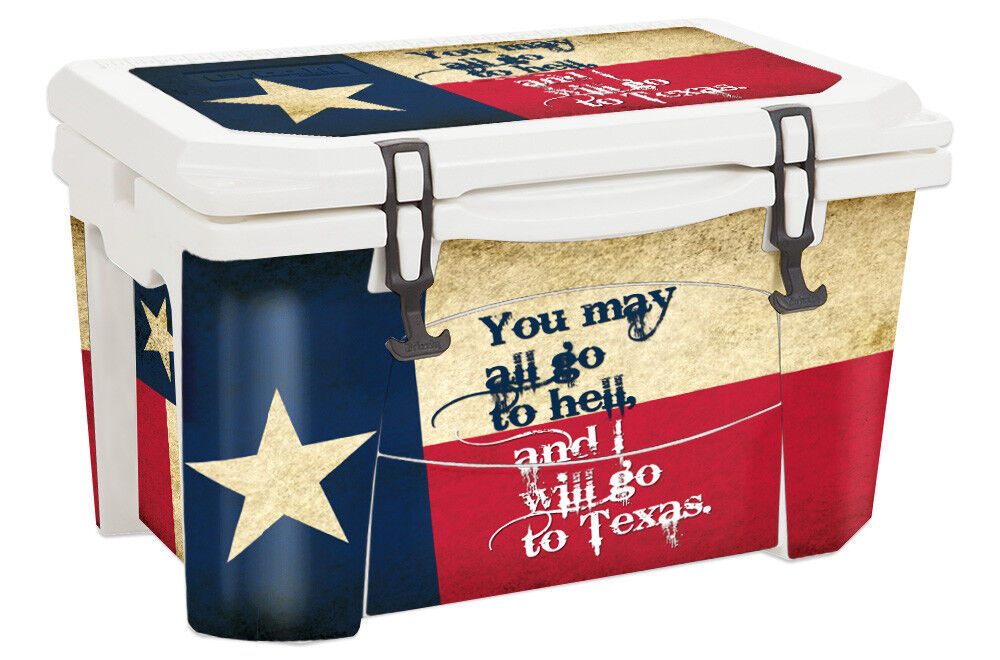 USATuff Custom Cooler Wrap Decal fits Grizzly Grizzly fits 75qt FULL Texas Go To 21bf7a