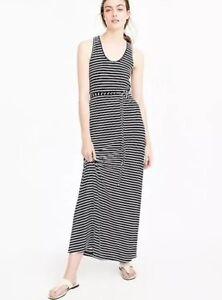 54fc1ade678 New J Crew Striped Maxi Dress With Tie Waist Sz XXS Blue White ...