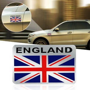 3d Car Aluminum England Gb Uk Union Jack Flag Shield Emblem Badge Sticker Decals Ebay