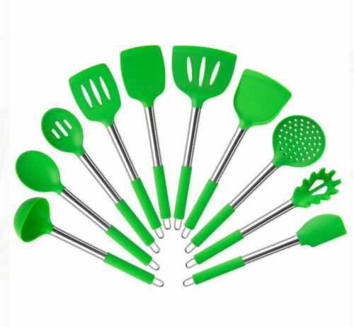 Mainstays 10 Piece cooking kitchen Silicone Utensil Set silicone tools utensils
