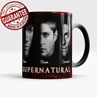 Supernatural magic mug Sam Dean Winchester Castiel color changing coffee tea cup