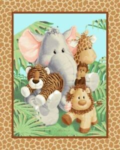 36-034-Fabric-Traditions-Panel-Jungle-Babies-Patty-Reed-Nursery-Baby-Wallhanging