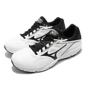 mizuno mens running shoes size 9 youth gold white homme