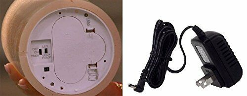 """AquaFlame LED LIGHT Candle flameless Fountain Light with Timer SAND 5/"""" x 8.5/"""""""