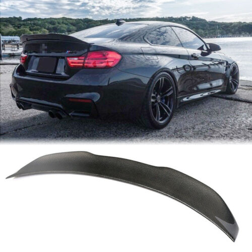 For BMW F82 F83 M4 Carbon Fiber Rear Boot Lip Spoiler Trunk Wing PSM Style 2Door