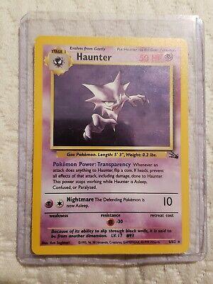 Rare 21//62 Fossil 1x Haunter Unlimited Edition NM-Mint Pokemon G1